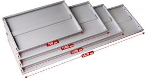 Полка 150/40 для металлического стеллажа купить на выгодных условиях в Челябинске